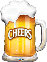 Cheers! Beer Mug Large Foil Balloon 1pc